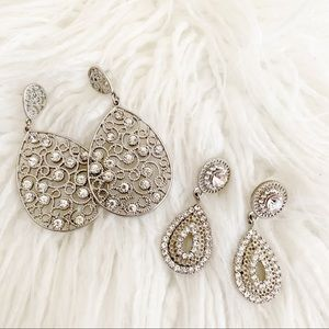 Faux Crystal Fashion Earrings